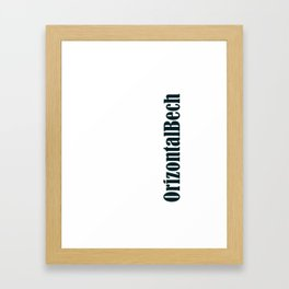 OrizontalCool Framed Art Print