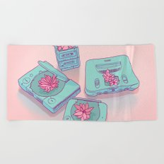 Flowers & Consoles Beach Towel