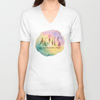 agnes V-neck T-shirts featuring Agnes in Wonderland by Agnes in Wonderland