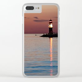 Lighthouse at the Blue Hour Clear iPhone Case