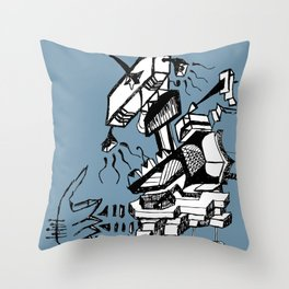 Is this how music sounds better Throw Pillow