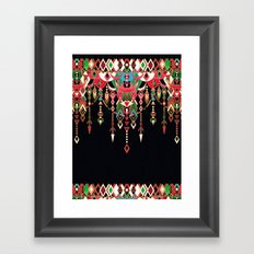 Modern Deco in Red and Black Framed Art Print
