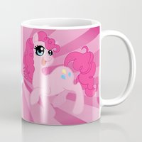 mlp Mugs featuring MLP FiM: Pinkie Pie by Yiji