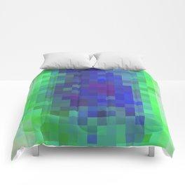 Aqua Color Study Comforters