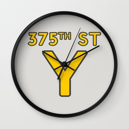 375th Street Y Wall Clock