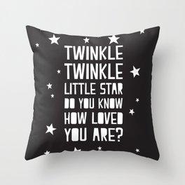 Twinkley Night Throw Pillow