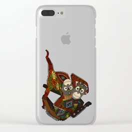orangutans blue Clear iPhone Case