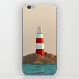 calm lighthouse iPhone Skin
