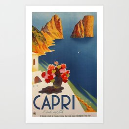 Capri la isla de Sole Travel Poster Art Print