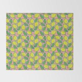Lemons pattern Throw Blanket