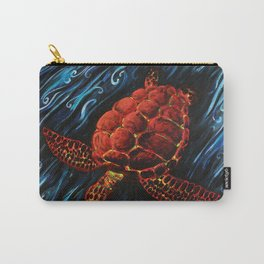 Sea Turtle, Spirit Animal Print Carry-All Pouch