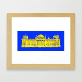 German Reichstag Dots Framed Art Print