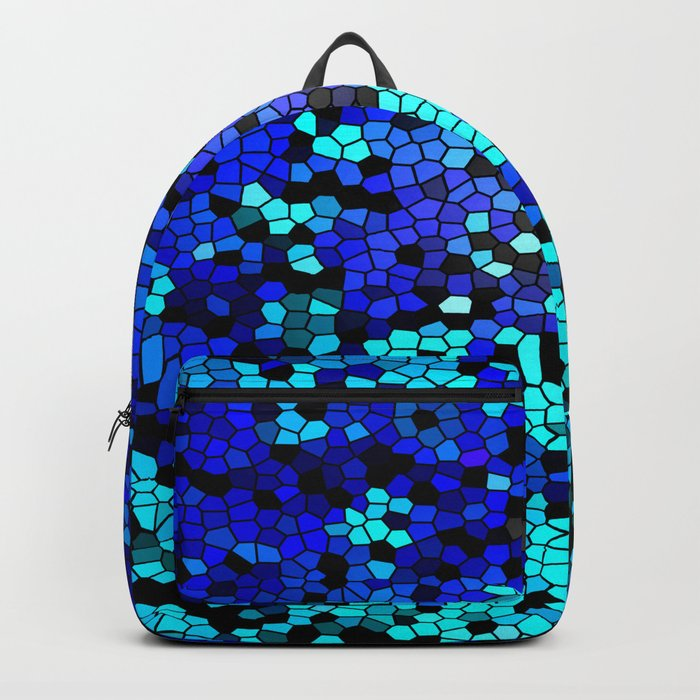 STAINED GLASS BLUES Backpack