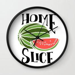 Watermelon Home Slice Wall Clock