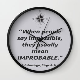 Improbable Wall Clock