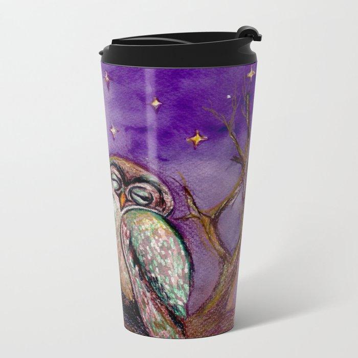Owls in love Metal Travel Mug
