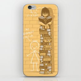 Real stature iPhone Skin