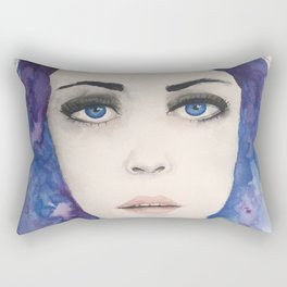 Blue Girl Rectangular Pillow