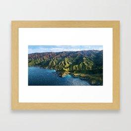 Pacific Coast Highway, Coastal California Santa Lucia Mountains landscape painting Framed Art Print