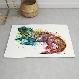 Colourful Tuatara Rug