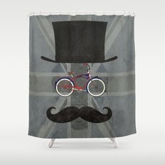 Bicycle Head Shower Curtain