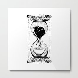 Morning coffee hourglass Metal Print