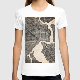 JACKSONVILLE map Florida ink lines 2 T-shirt