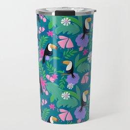 Tropical Toucan Jungle Travel Mug