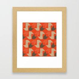 Clover&Nessie Apple/Choco Framed Art Print