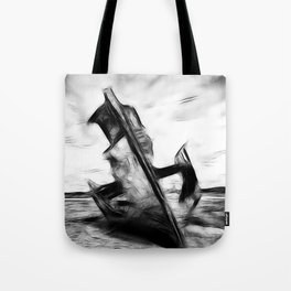 Ghostly Wreck Tote Bag