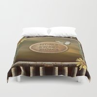 home sweet home Duvet Covers featuring Home Sweet Home by LLL Creations