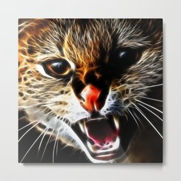 Scared catpainting Metal Print