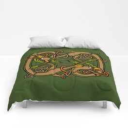 Celtic Hounds Knot One Comforters