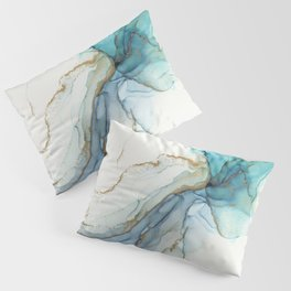 Abstract Jellyfish Alcohol Ink Painting Pillow Sham