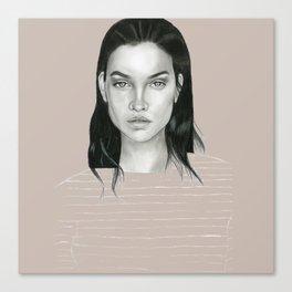 Graphite Barbara Palvin Canvas Print