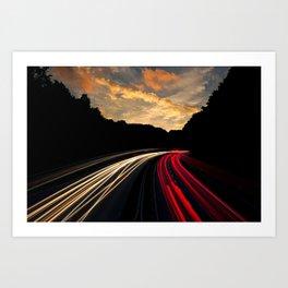 Highway to Adventure Art Print