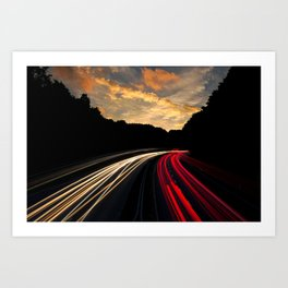 Highway to Adventure Art Print