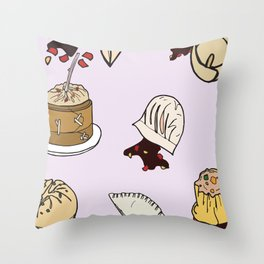 Dumpling Day Throw Pillow