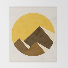Abstraction_Mountains_YELLOW_001 Throw Blanket