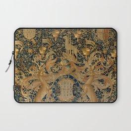 Vintage Golden Deer and Royal Crest Design (1501) Laptop Sleeve