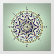 Heart Moon Star Mandala Canvas Print