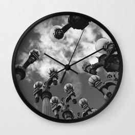 Lamp Posts Wall Clock