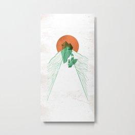 3Lives - Stone Metal Print