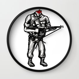 Roland The Headless Thompson Gunner Wall Clock