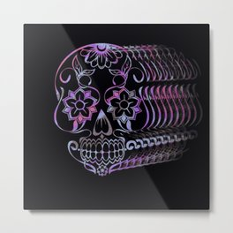 ghastly sugar skull  Metal Print