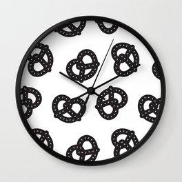 Postmodern Pretzels in Black + White Wall Clock
