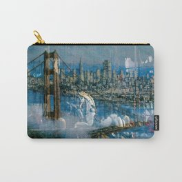 Window Reflection 002 (Horses/Golden Gate) Carry-All Pouch