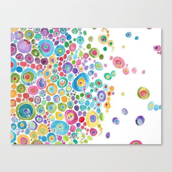 Inner Circle - white Canvas Print
