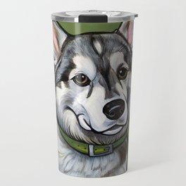 Aspen the Husky Travel Mug