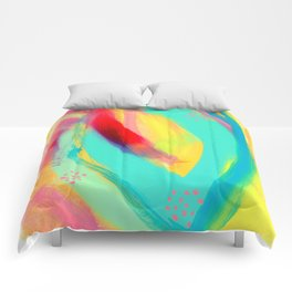 Be Proud, Be OK - colorful modern abstract Comforters